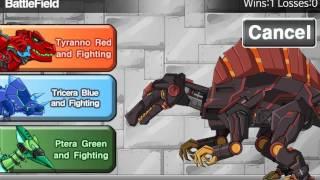 Мультик игра Роботы динозавры: Магма спинозавр (MagmaSpino Dino Robot)
