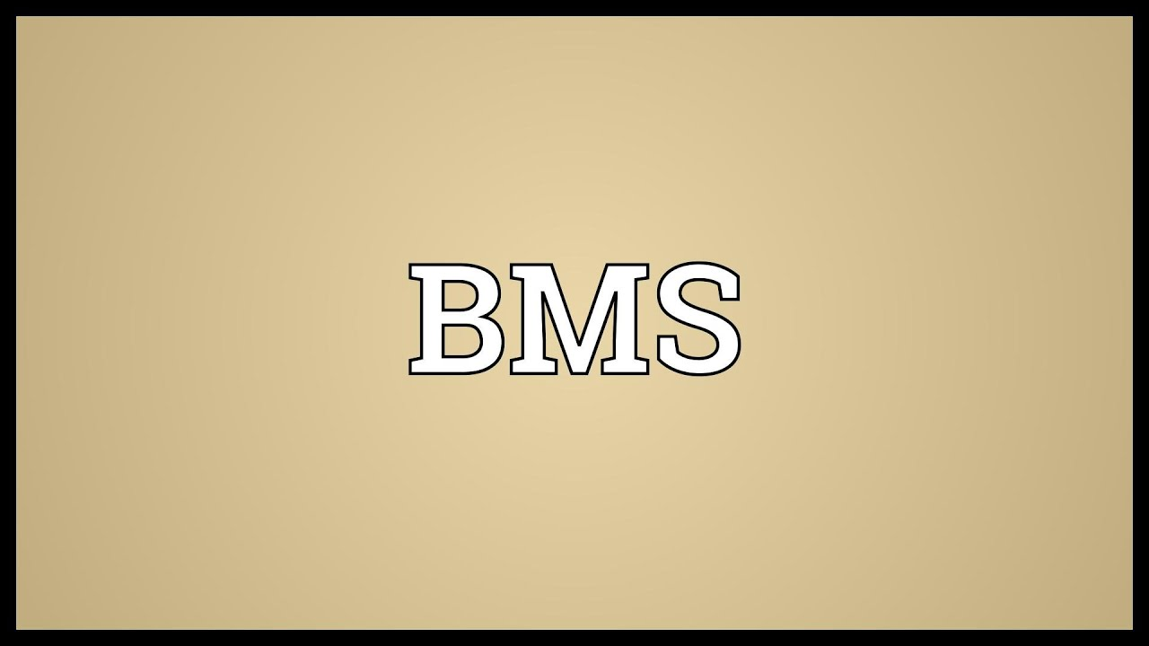 What does bms stand for in a text