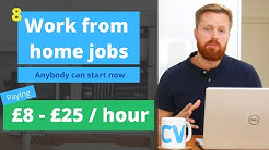 8 work from home jobs anyone can start now   UK, US Worldwide