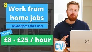 8 work from home jobs anyone can start now | UK, US Worldwide