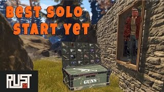 Best Solo Start Yet | Rust Solo Survival - The Ugly Base: Part 1