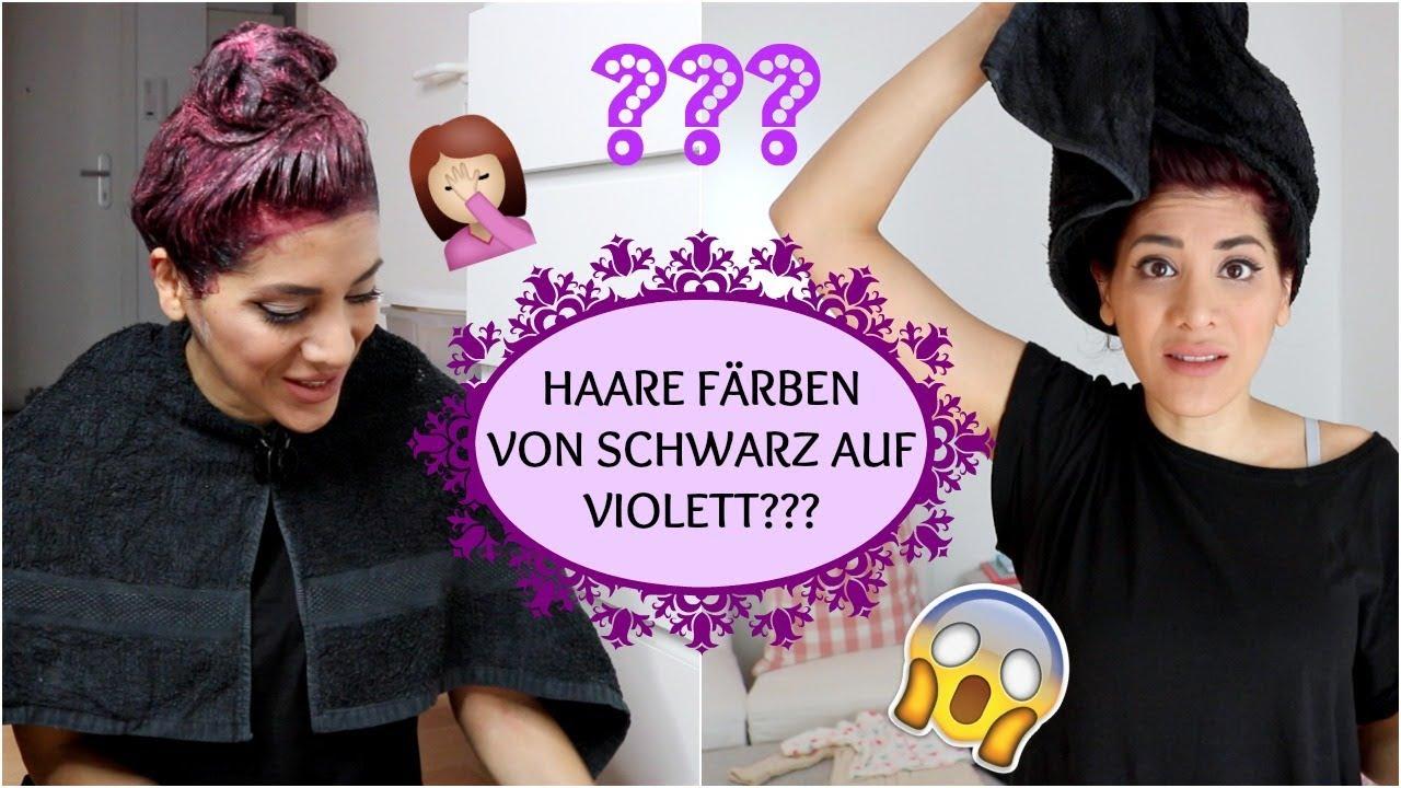 Haare Farben Von Schwarz Auf Violett I Sevins Wonderland