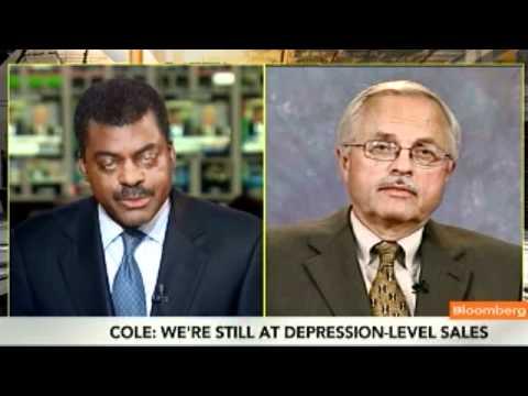 Cole Says U.S. Auto Sales Still at `Depression Level'