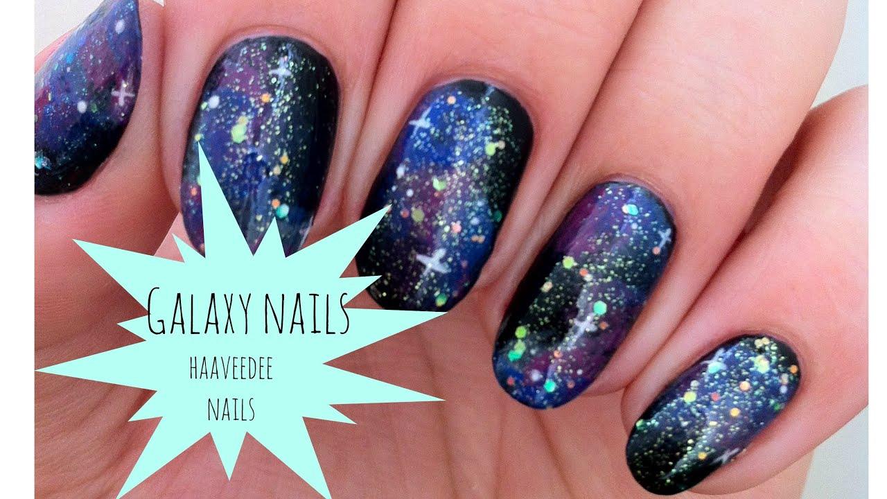 Easy galaxy nails! - YouTube