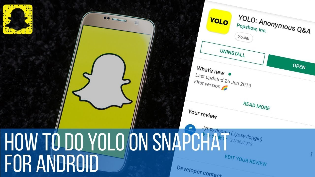 How To Do Yolo On Snapchat For Android Youtube