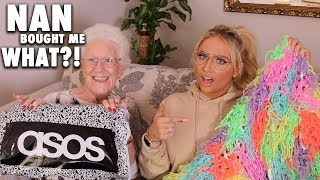 MY 75 YEAR OLD NAN buys my ASOS outfit!!