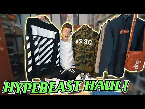 CRAZY hypebeast clothing haul! (Supreme, Bape, Off-White, Anti Social)
