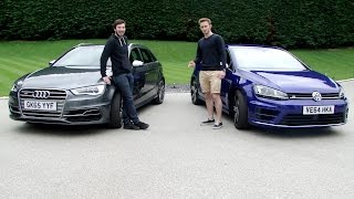 Audi S3 vs Golf R - With James & Harry