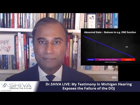 Dr.SHIVA LIVE: My Testimony in Michigan Hearing Today Exposes the Failure of the DOJ.