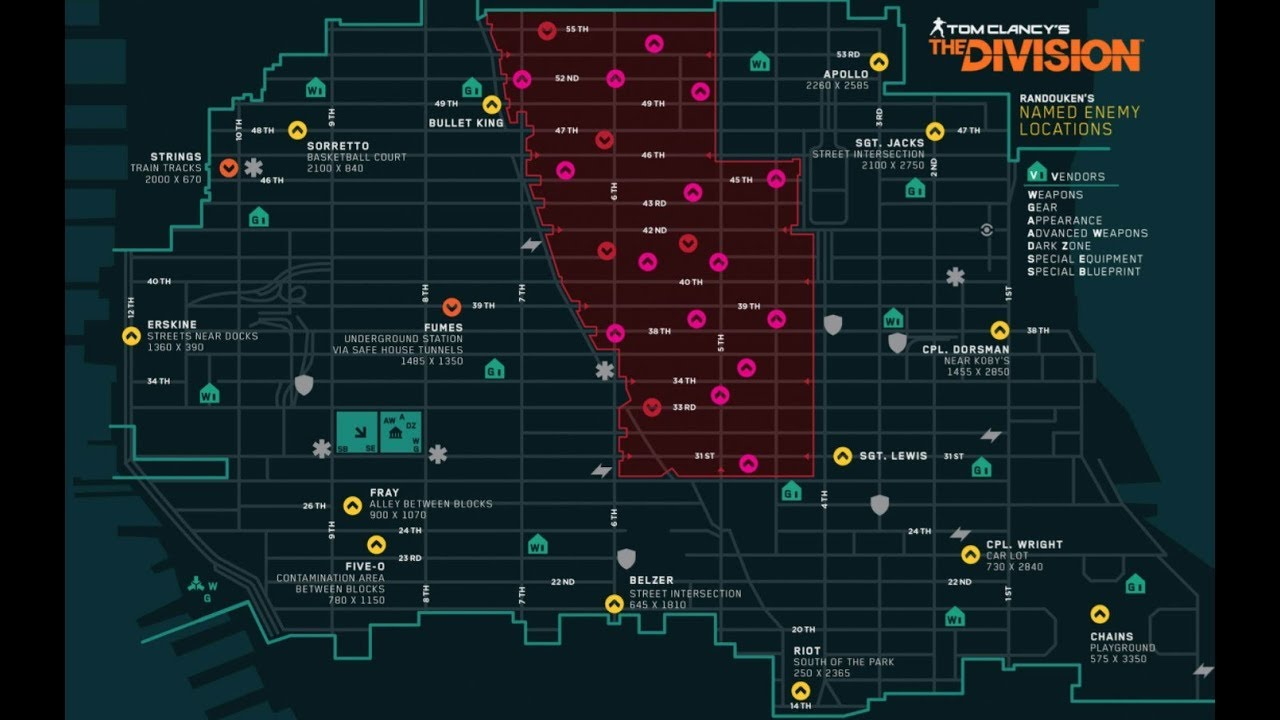 Named Bosses / The Division Zone