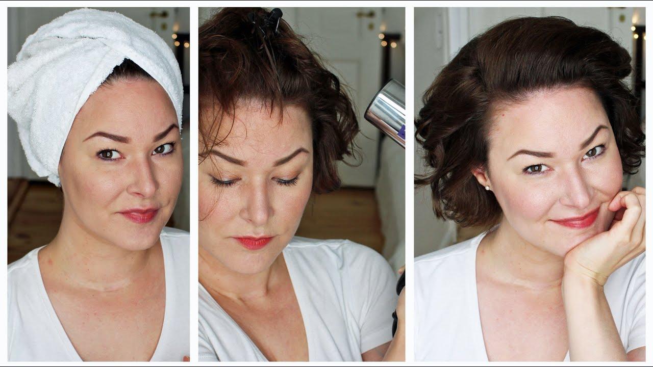 Haar Styling Routine Kurze Haare Mit Locken