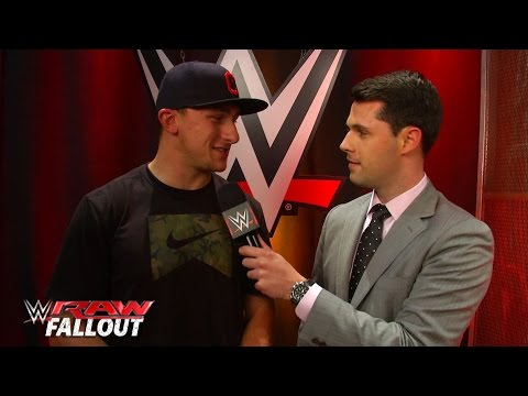 Johnny Manziel visits Raw in Cleveland: Raw Fallout, June 15, 2015
