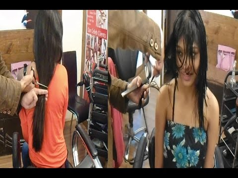 Model Actress Pooja's Haircut ( Long To Short Haircut)