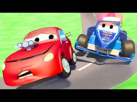 Videa s náklaďáky pro děti - Závodící náklaďák Formule 1 - Supernáklaďák ve Městě Aut
