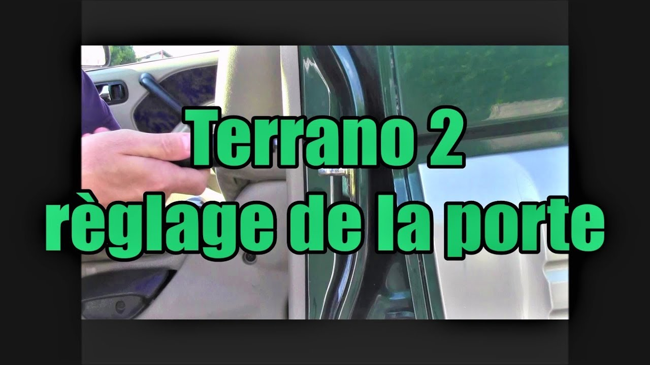 Terrano 2 r glage de la fermeture de porte youtube for Porte 1007 ne se ferme plus