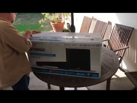 Customer unboxing yamaha yas 203 sound bar crutchfield for Yamaha audio customer service