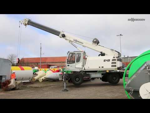 SENNEBOGEN 643 Mobile Telescopic Crane - Yard logistic with telescopic crane - WSA Tönning, Germany
