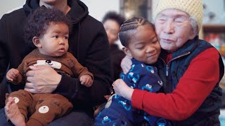 MEETING OUR KOREAN GREAT GRANDMOTHER FOR THE FIRST TIME! 안녕 할머니 VLOGMAS DAY 2