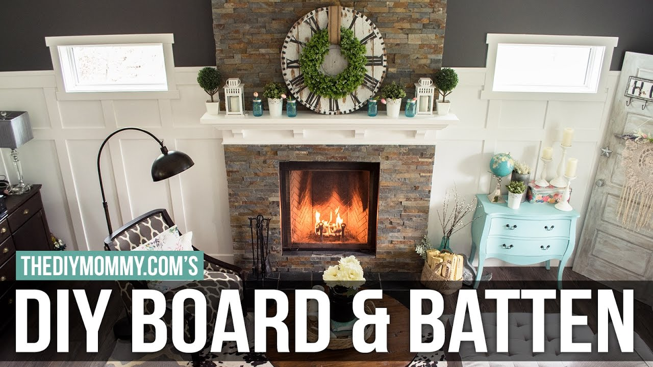 How To Install A Diy Board And Batten Feature Wall Youtube