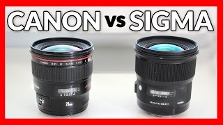 Sigma 24mm 1.4 Art vs Canon 24mm 1.4L II - Lens Shootout