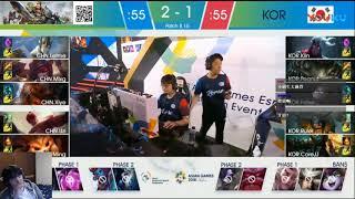 【叉燒老師來分析】CHN vs KOR|2018 Asian Games Esports Game 4 2018/08/30