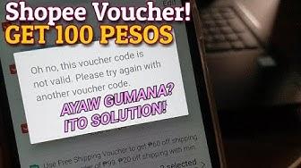 "Free P100 Shopee "" Voucher Code Is Not Valid "" Solution Error SSuki Issue Mystery Box Haul Divisoria"