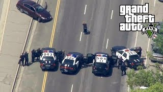 GTA 5 - REAL COPS MOD!! UNBELIEVABLE BANK HEIST (200 UNITS) Biggest GTA 5 Stars Police Chase EVER!