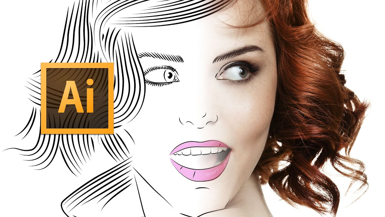Line Art Portrait : Adobe illustrator cc line art tutorial tips tricks