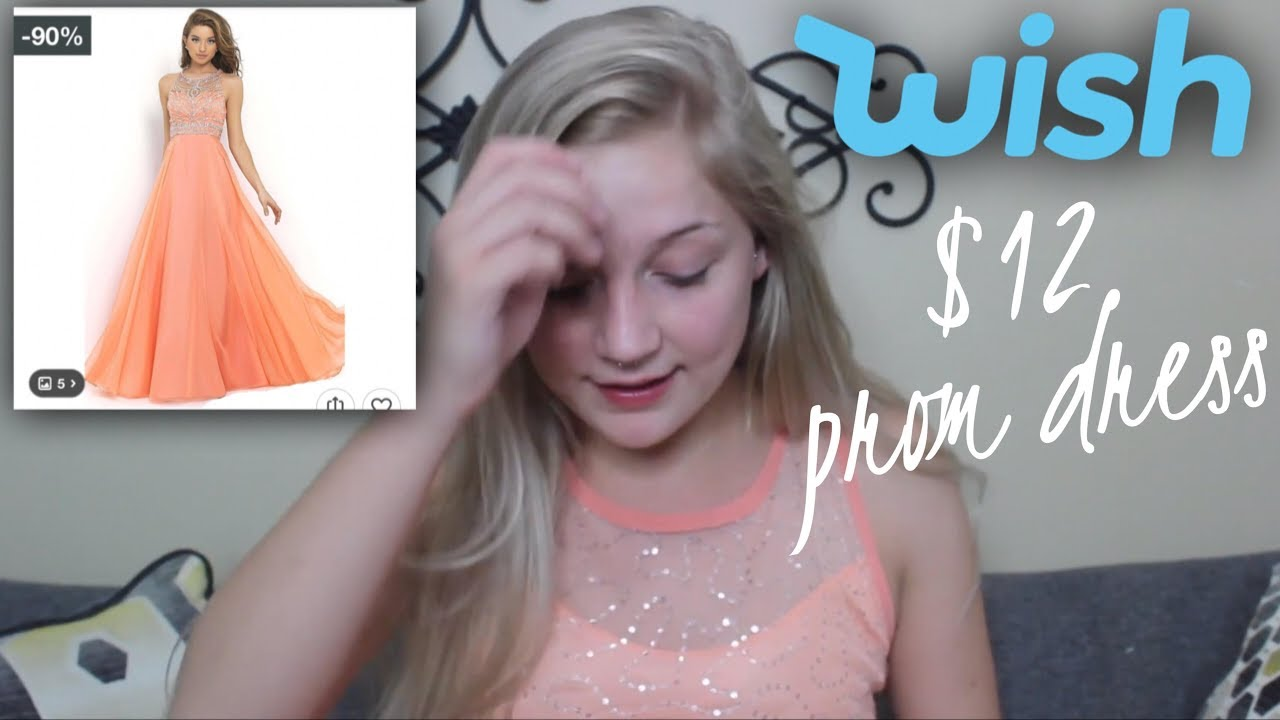I Bought a $12 PROM DRESS On WISH?? wtf is this app - YouTube