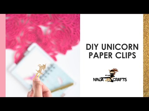 DIY Unicorn Paper Clips  - Beginner Cricut Project