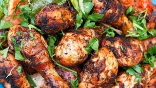 Mediterranean Diet Recipes - Grilled Chicken Drumstick With Spicy Garlic Harissa Recipe