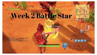 Search Between an Oasis, Rock Archway, and Dinosaurs | Fortnite |