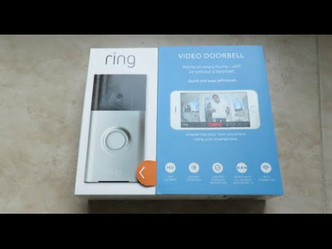ring video doorbell unboxing and installation youtube. Black Bedroom Furniture Sets. Home Design Ideas