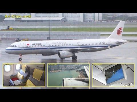 Air China Airbus A321 - Selected scenes from Hongkong - Beijing service! By [AirClips] HD