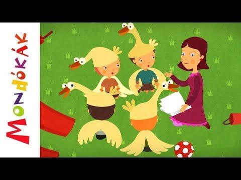 Gyertek haza ludaim   Gyerekdalok és mondókák, rajzfilm gyerekeknek thumbnail
