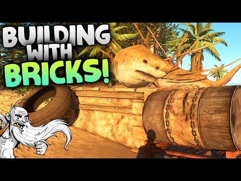 "Stranded Deep Gameplay - ""BUILDING WITH BRICKS!!!""  - Let's Play Walkthrough"