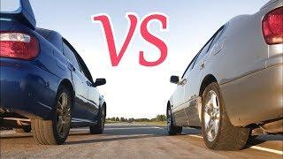 Subaru Impreza WRX STI VS Toyota Aristo V300