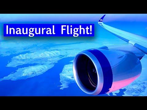 Scandinavian Airlines A350 Inaugural First Flight