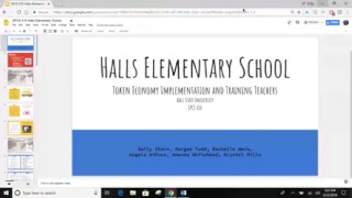SPCE 610 Halls Elementary School: Token Economy Implementation and Training