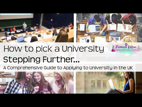 How to pick a university - UCAS and University Series #1