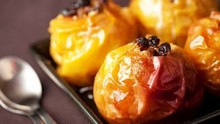 Домашние видео рецепты -  запеченные яблоки в мультиварке