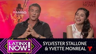 Sylvester Stallone and Yvette Monreal Translate Spanish Phrases | Latinx Now! | Entretenimiento