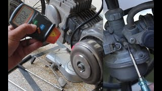 70CC motorcycle bike Air Fuel Mixture Setting Using Tachometer, Petrol Setting for best performance