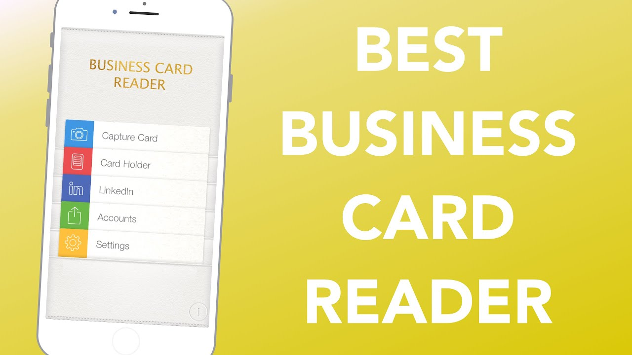 BUSINESS CARD READER PRO - Smart Networking! - YouTube