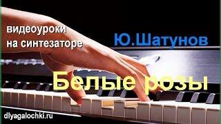 Видеоурок на синтезаторе Ю Шатунов Белые розы