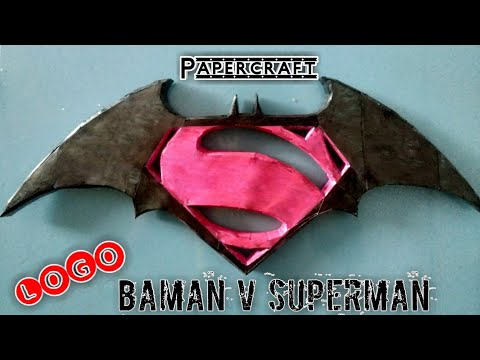 Batman V Superman Logo Papercraft
