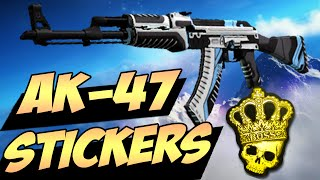 CS:GO - Best Sticker Combinations: AK-47(CS:GO - Most Epic Kawaishinikov Sticker Combinations. This is a showcase of some intresting combinations with AK-47 Skins and Stickers. Enjoy!, 2015-06-18T17:52:07.000Z)