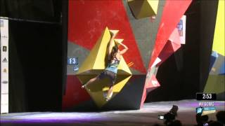 Akiyo Noguchi  WORLD CUP BOULDER CHAMPION 2014