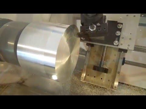 DIY CNC Slant Bed Lathe using tubular steel frame