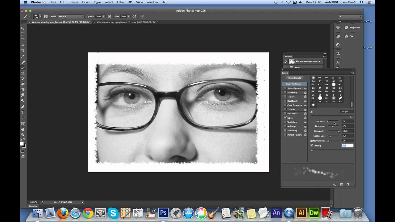 Create photo frame border in Photoshop CS6 - YouTube
